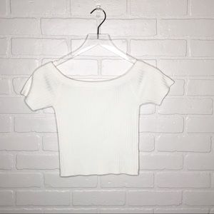 Forever 21 Off the shoulder top White